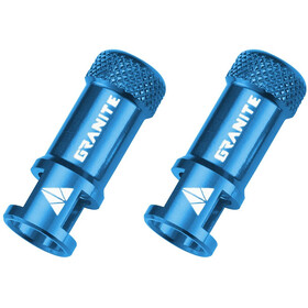 Granite CNC Valve Cap with Removing Function 2 Pieces blue